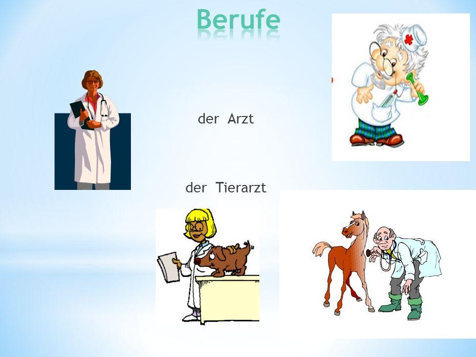 der Arzt der Tierarzt