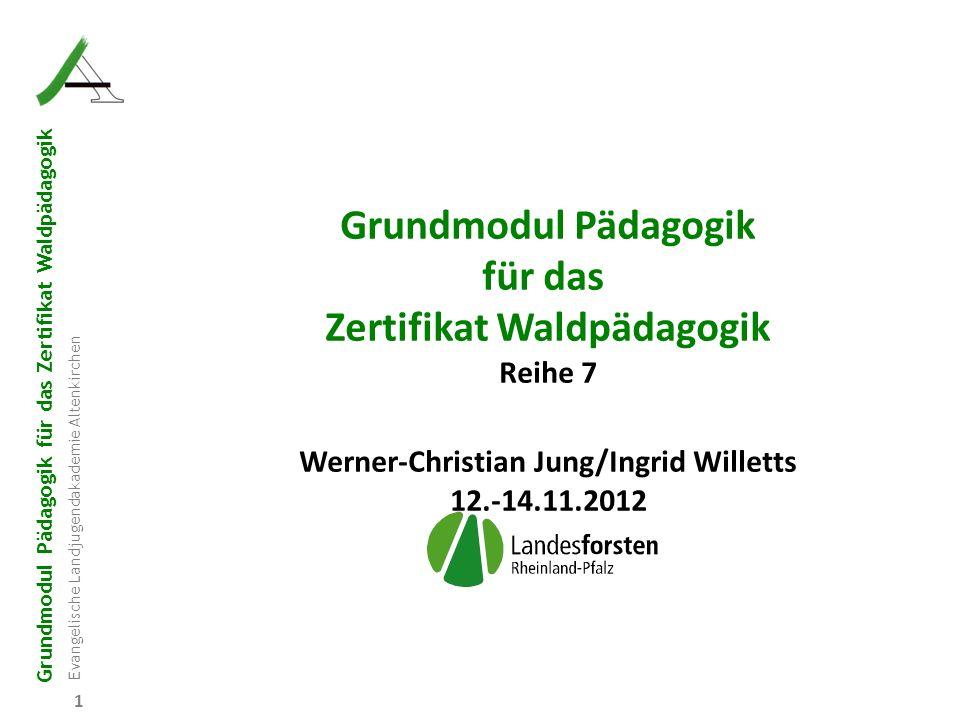 Grundmodul Pädagogik für das Zertifikat Waldpädagogik Evangelische Landjugendakademie Altenkirchen 72 6.