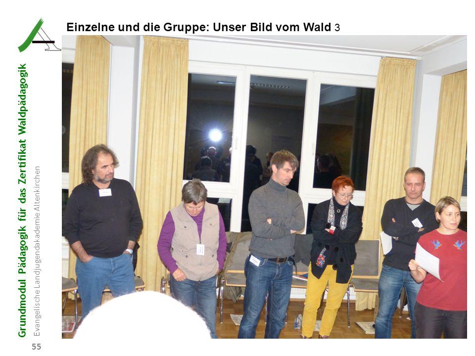 Grundmodul Pädagogik für das Zertifikat Waldpädagogik Evangelische Landjugendakademie Altenkirchen 55 Einzelne und die Gruppe: Unser Bild vom Wald 3