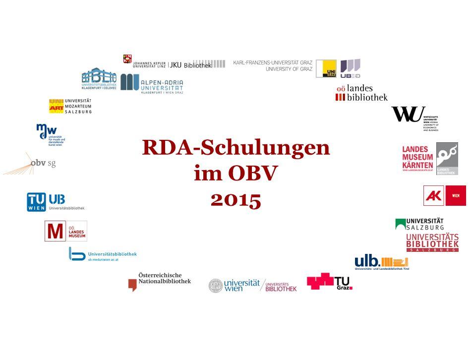 RDA-Schulungen im OBV 2015