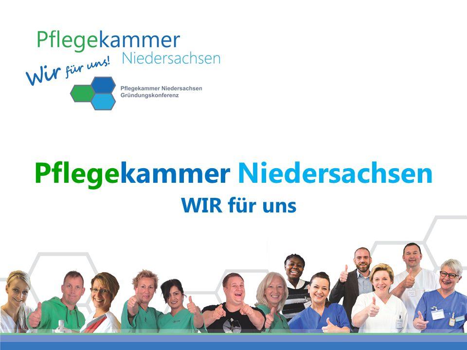 Pflegekammer Niedersachsen WIR für uns 1.Pflegekammer für uns – gemeinsam sind wir stark 2.Pflegekammer für mich: mein Gewinn und mein Beitrag 3.Pflegekammer: Sicherheit für alle Menschen 4.Unser Weg zur Pflegekammer
