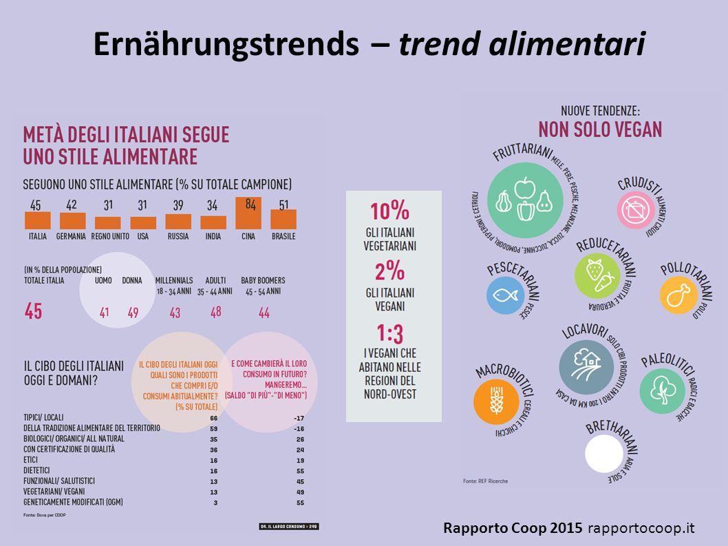 Ernährungstrends – trend alimentari Rapporto Coop 2015 rapportocoop.it