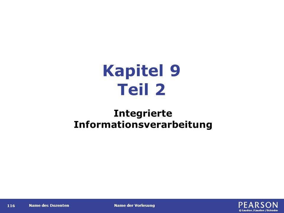 © Laudon /Laudon /Schoder Name des DozentenName der Vorlesung Gliederung 117 1.