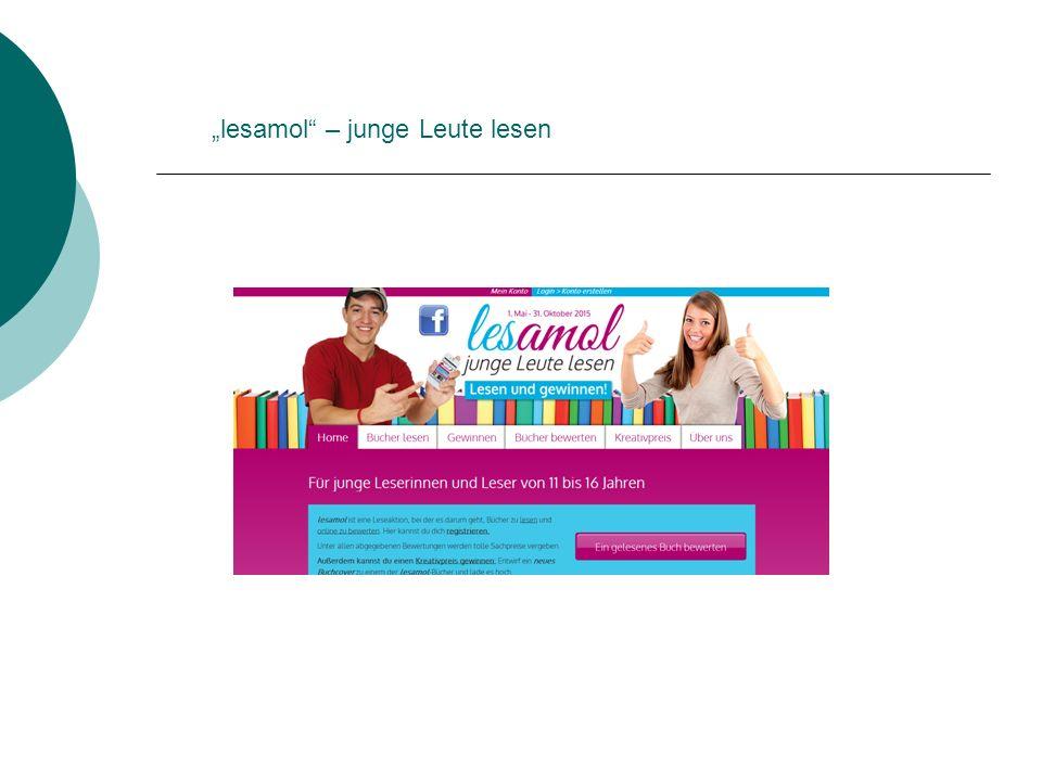 """""""lesamol"""" – junge Leute lesen"""