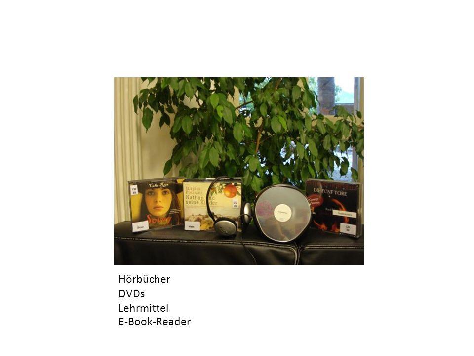Hörbücher DVDs Lehrmittel E-Book-Reader