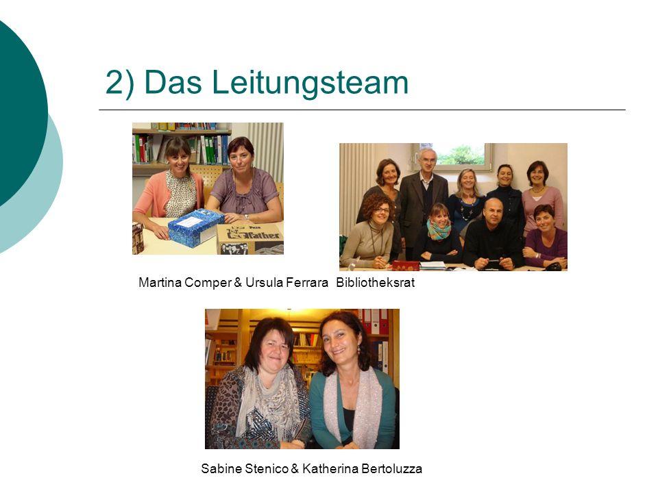 2) Das Leitungsteam Martina Comper & Ursula FerraraBibliotheksrat Sabine Stenico & Katherina Bertoluzza