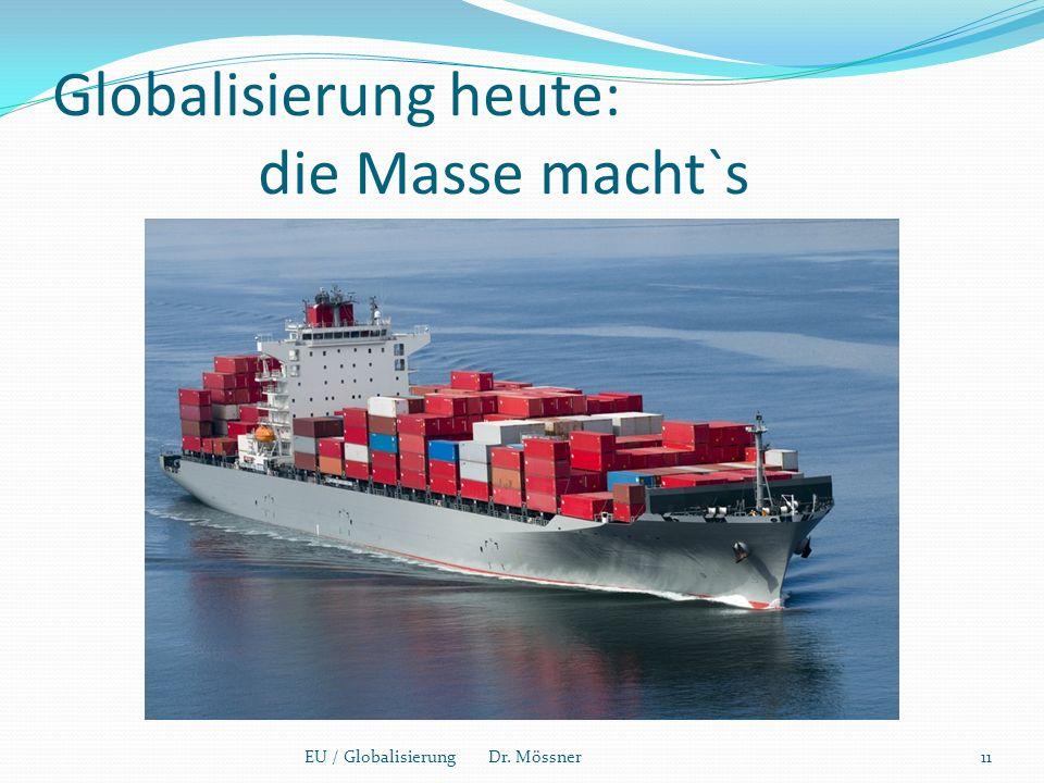 Globalisierung heute: die Masse macht`s EU / Globalisierung Dr. Mössner11