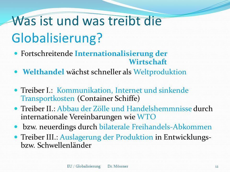Was ist und was treibt die Globalisierung.