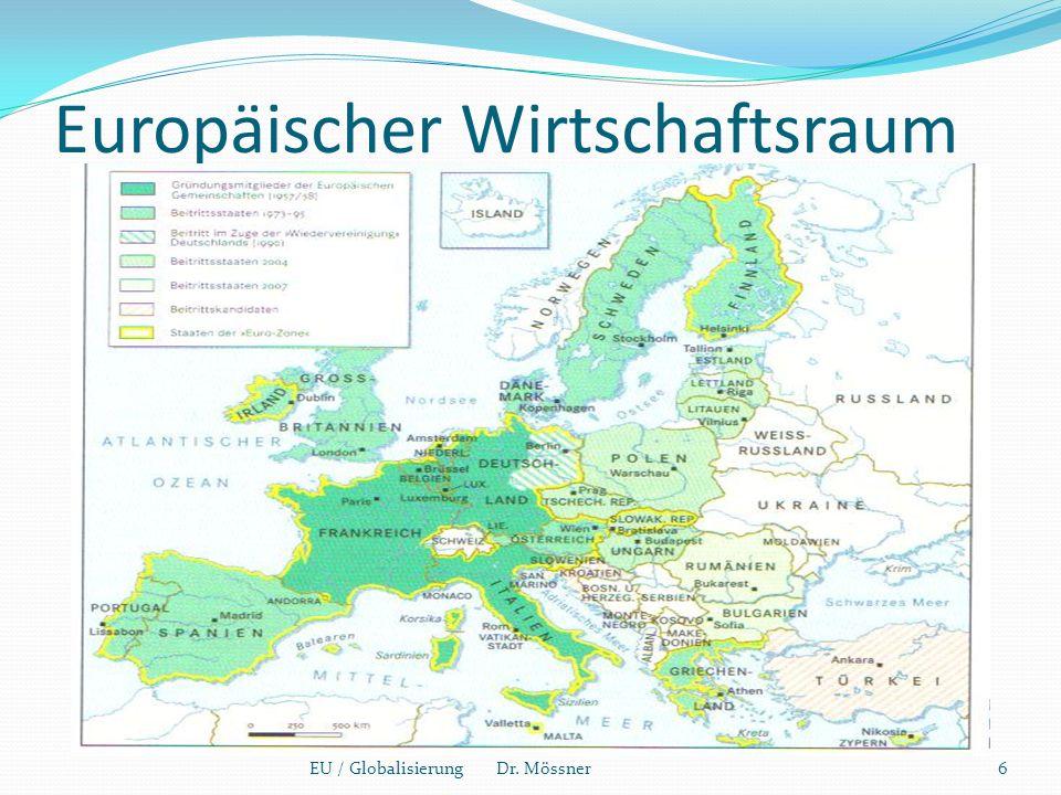 Europäischer Wirtschaftsraum EU / Globalisierung Dr. Mössner6