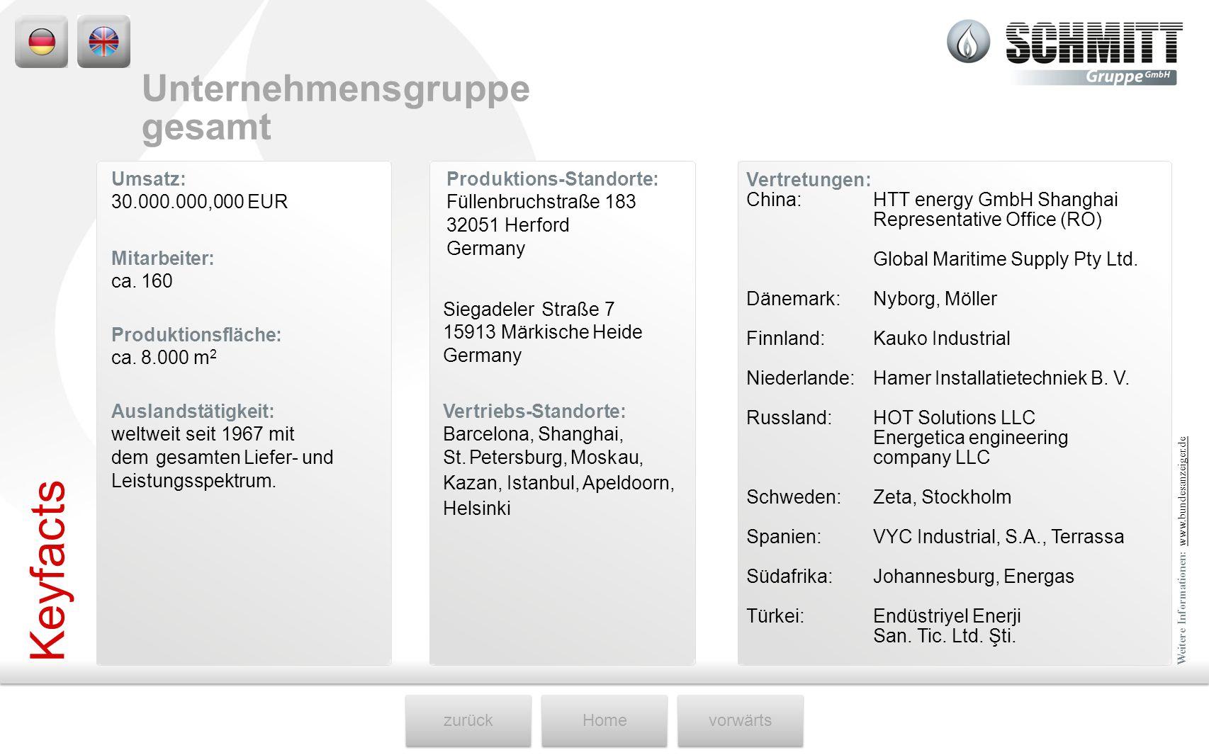 zurückHomevorwärts Umsatz: 30.000.000,000 EUR Produktions-Standorte: Füllenbruchstraße 183 32051 Herford Germany Mitarbeiter: ca. 160 Siegadeler Straß