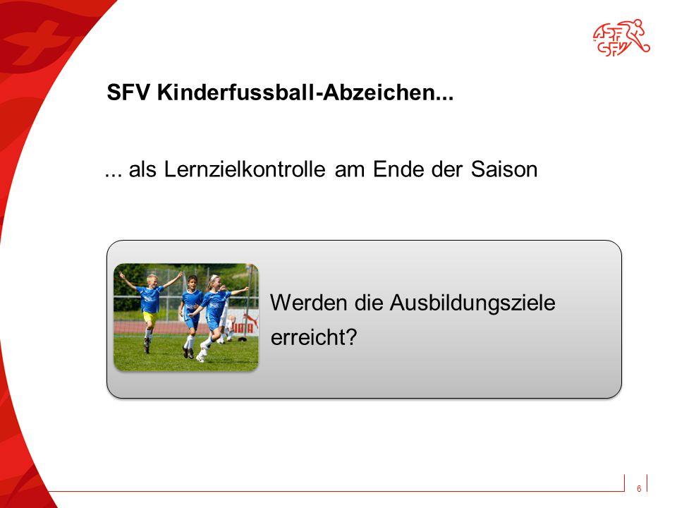 SFV Kinderfussball-Abzeichen...Werden die Ausbildungsziele erreicht.