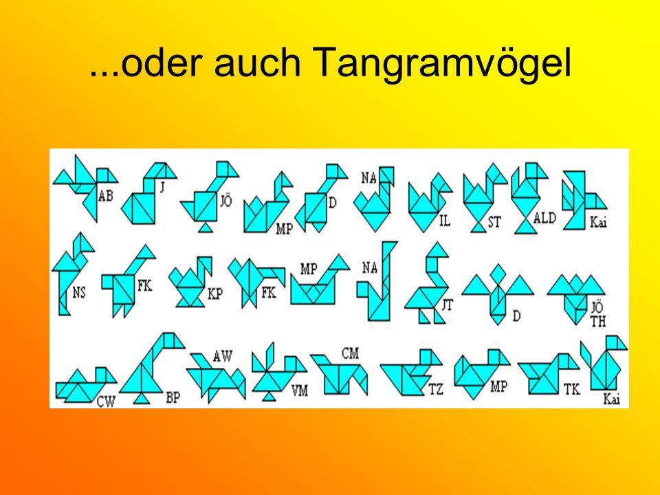 ...oder auch Tangramvögel