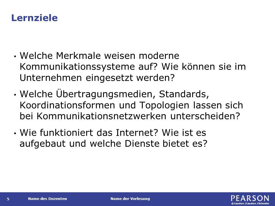 © Laudon /Laudon /Schoder Name des DozentenName der Vorlesung Virtual Private Network (VPN) 86 Eine sichere Verbindung zwischen zwei Punkten in einem öffentlichen Netzwerk, um Unternehmensdaten zu übertragen.
