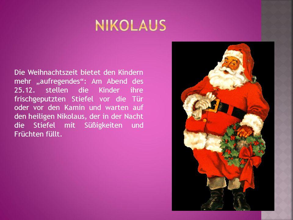 """Die Weihnachtszeit bietet den Kindern mehr """"aufregendes"""": Am Abend des 25.12. stellen die Kinder ihre frischgeputzten Stiefel vor die Tür oder vor den"""