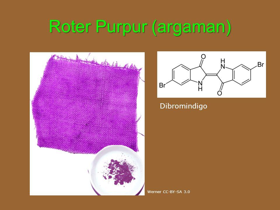 Roter Purpur (argaman) Dibromindigo Werner CC-BY-SA 3.0