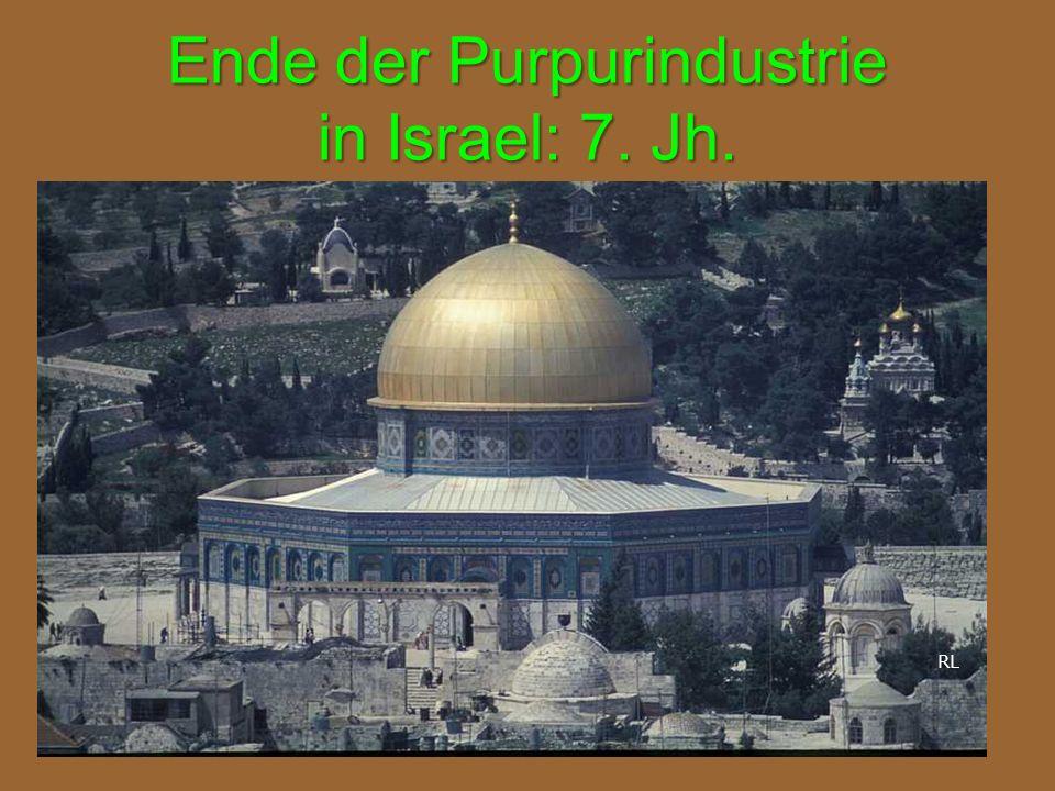 Ende der Purpurindustrie in Israel: 7. Jh. RL