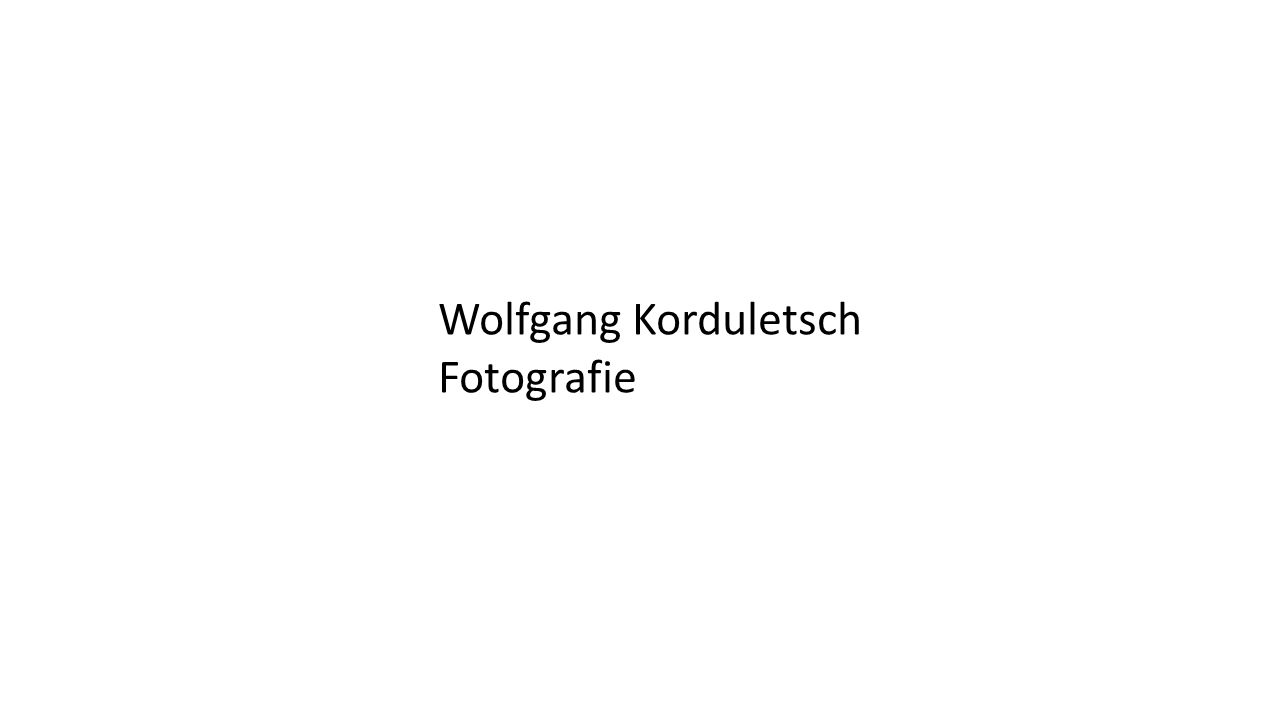 Wolfgang Korduletsch Fotografie