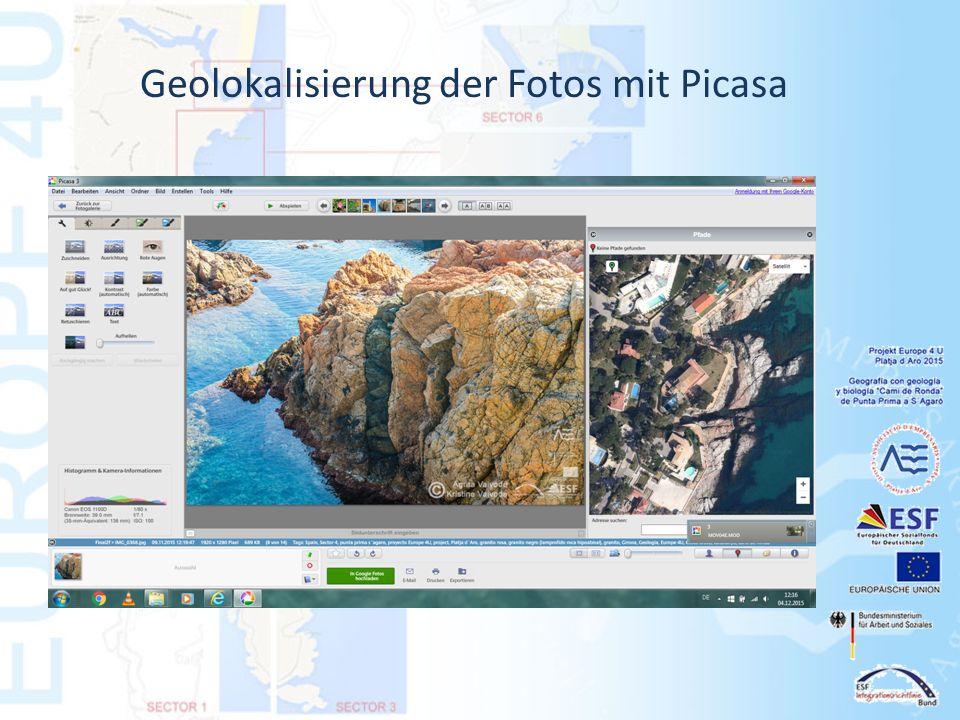 Geolokalisierung der Fotos mit Picasa