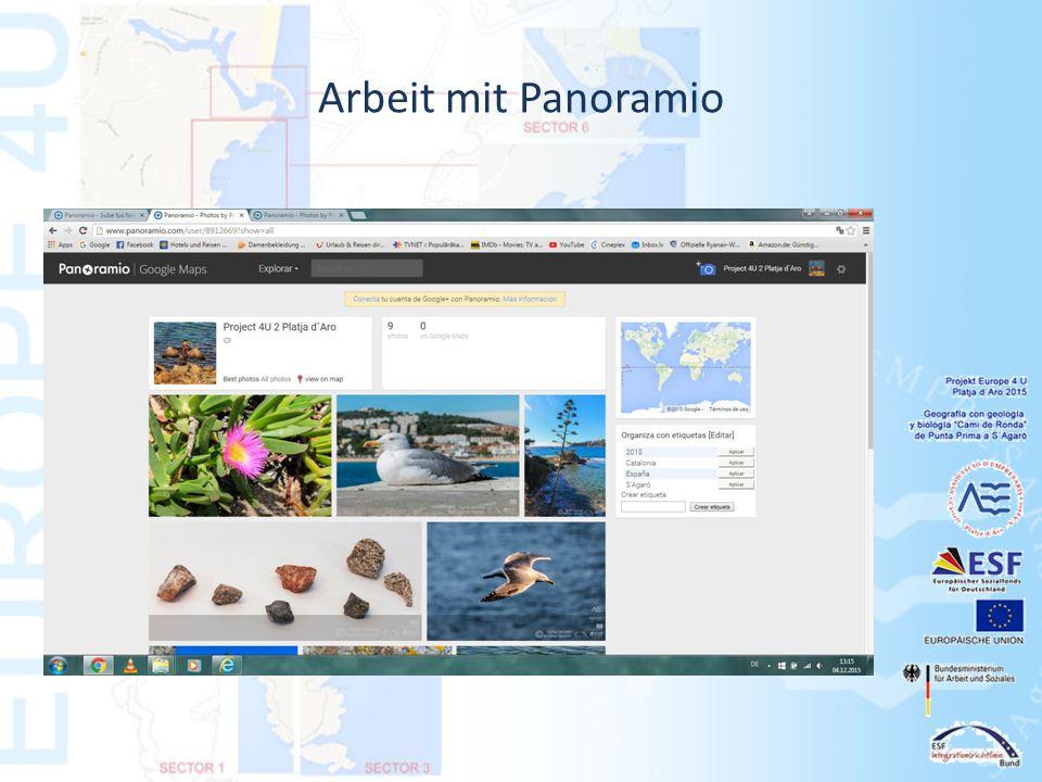 Arbeit mit Panoramio