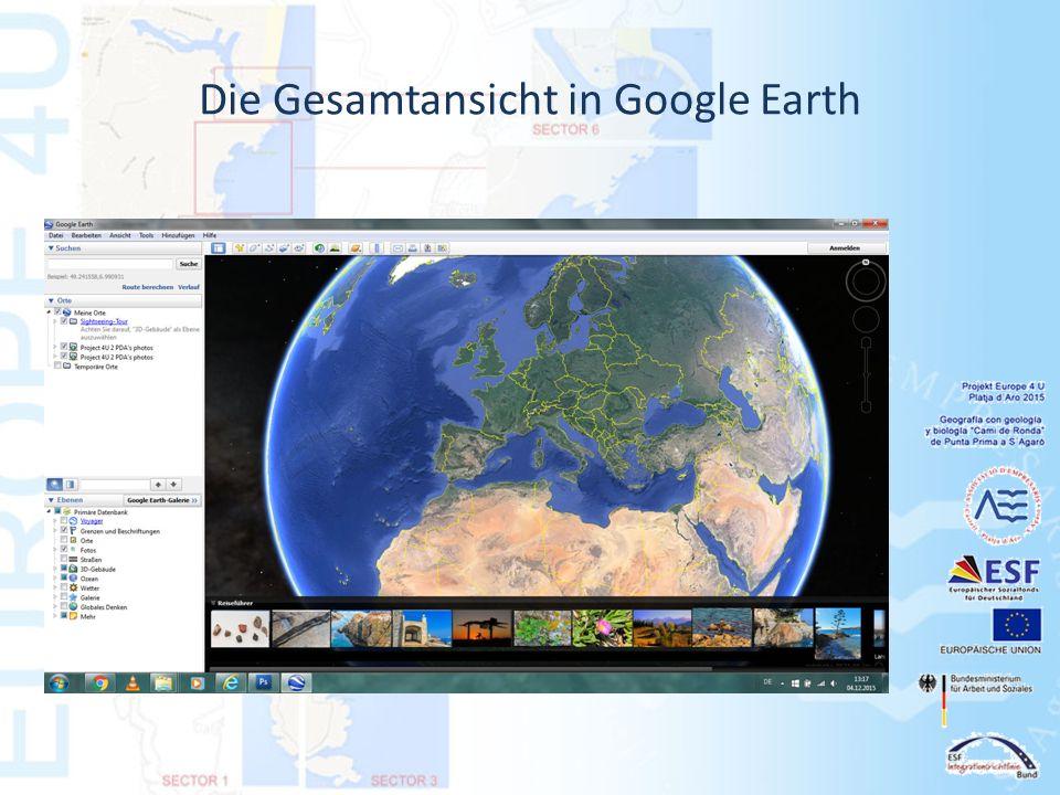 Die Gesamtansicht in Google Earth