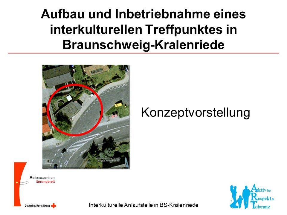Rotkreuzzentrum Sprungbrett Interkulturelle Anlaufstelle in BS-Kralenriede Aufbau und Inbetriebnahme eines interkulturellen Treffpunktes in Braunschweig-Kralenriede Konzeptvorstellung