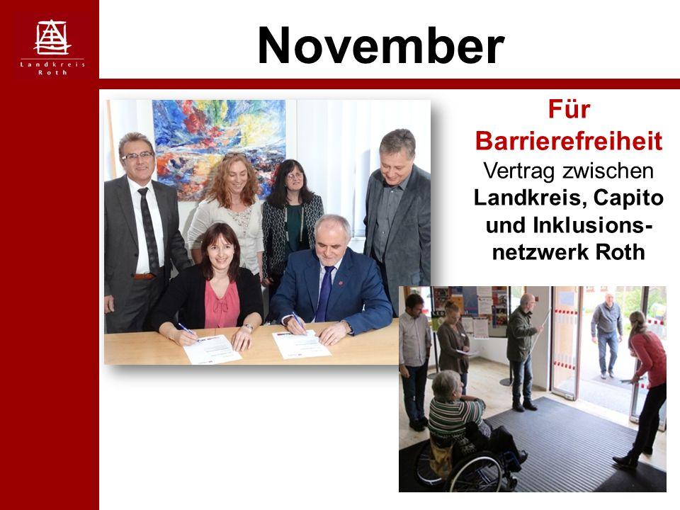 November Für Barrierefreiheit Vertrag zwischen Landkreis, Capito und Inklusions- netzwerk Roth