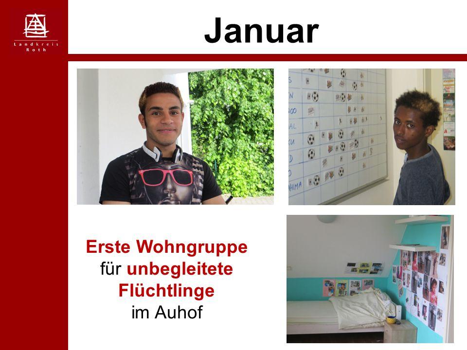 Januar Erste Wohngruppe für unbegleitete Flüchtlinge im Auhof