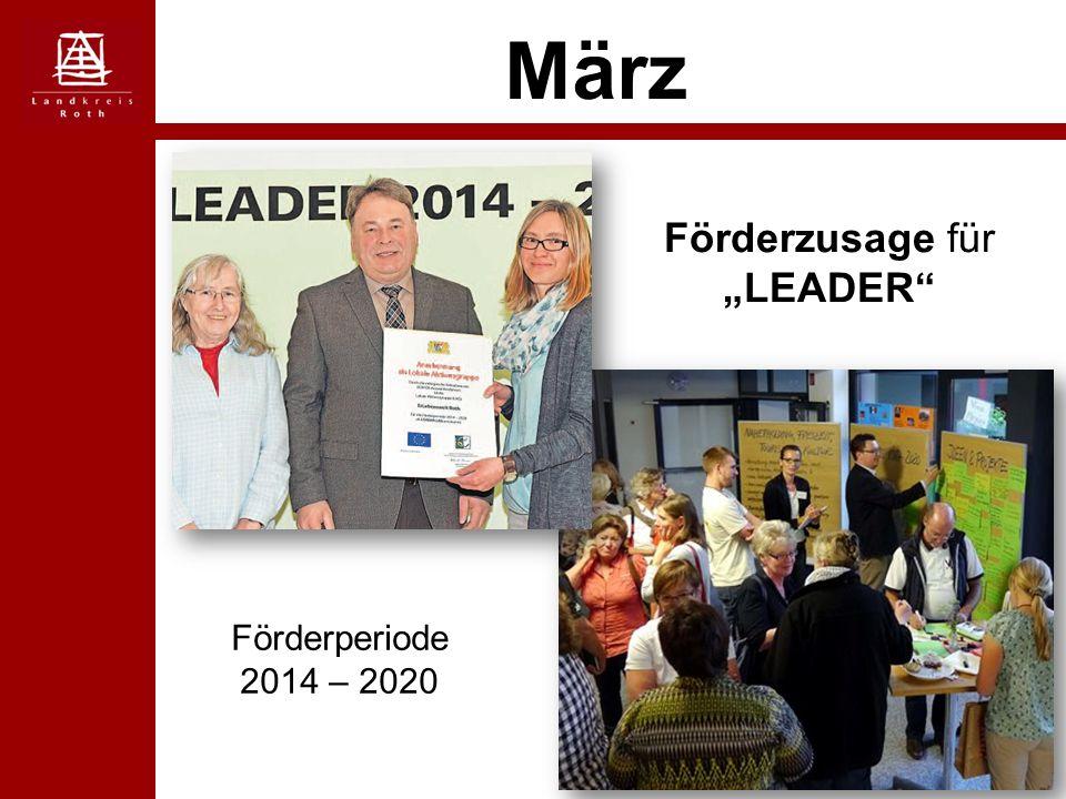 """März Förderzusage für """"LEADER Förderperiode 2014 – 2020"""
