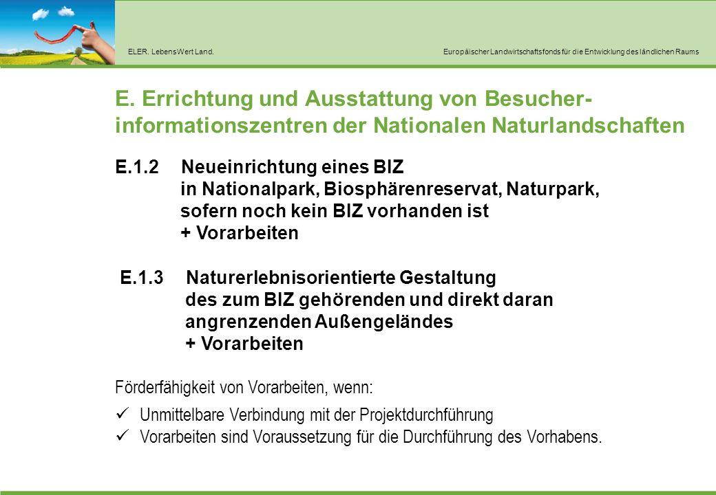 ELER. LebensWert Land.Europäischer Landwirtschaftsfonds für die Entwicklung des ländlichen Raums E.