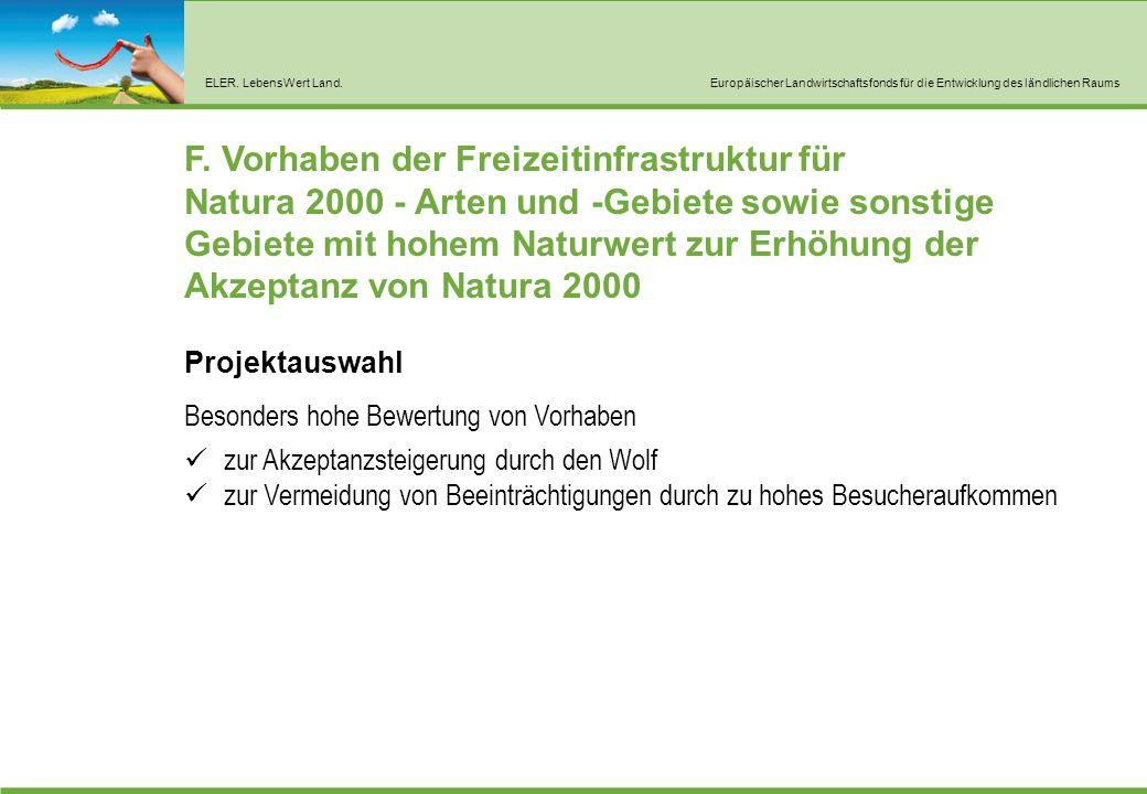 ELER. LebensWert Land.Europäischer Landwirtschaftsfonds für die Entwicklung des ländlichen Raums F.
