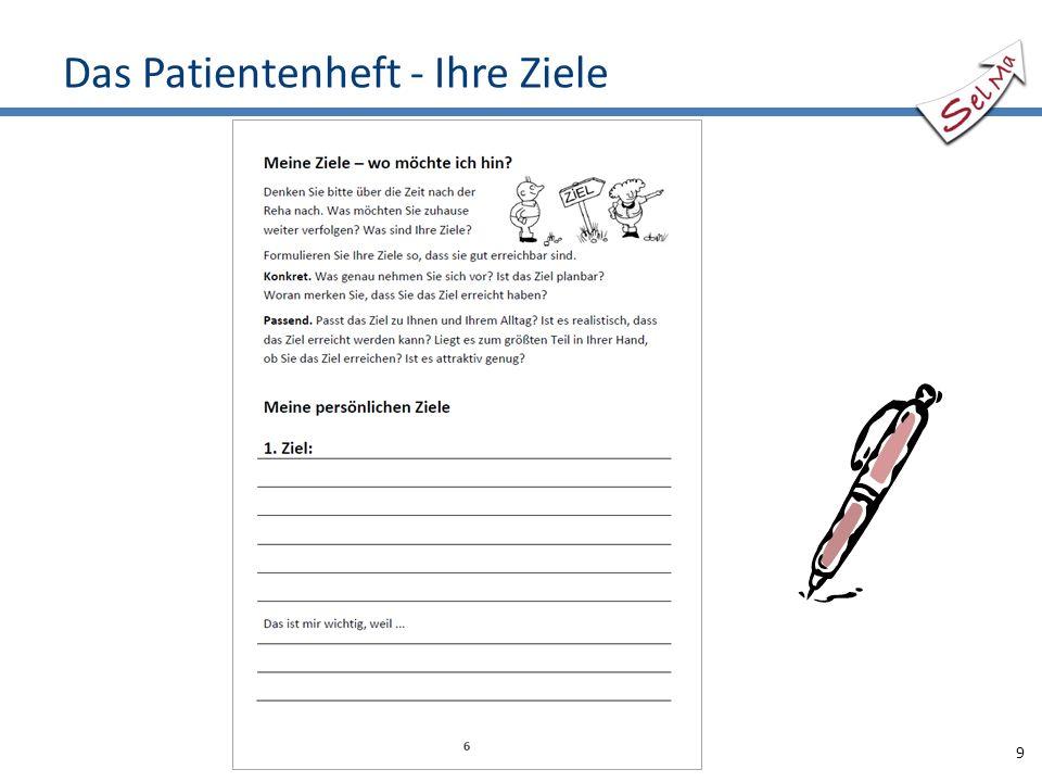 Das Patientenheft - Ihre Ziele 9