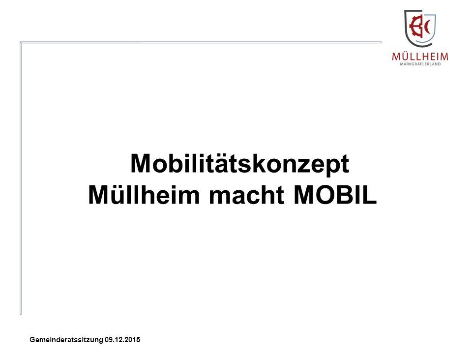 Mobilitätskonzept Müllheim macht MOBIL Gemeinderatssitzung 09.12.2015