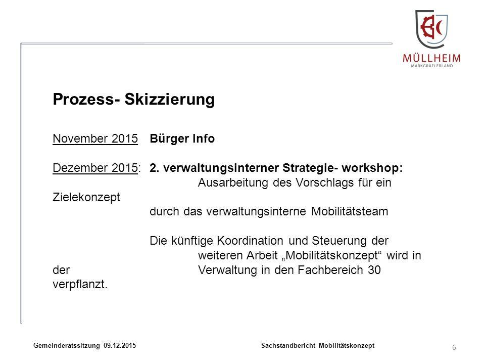 6 Gemeinderatssitzung 09.12.2015 Sachstandbericht Mobilitätskonzept November 2015Bürger Info Dezember 2015:2.