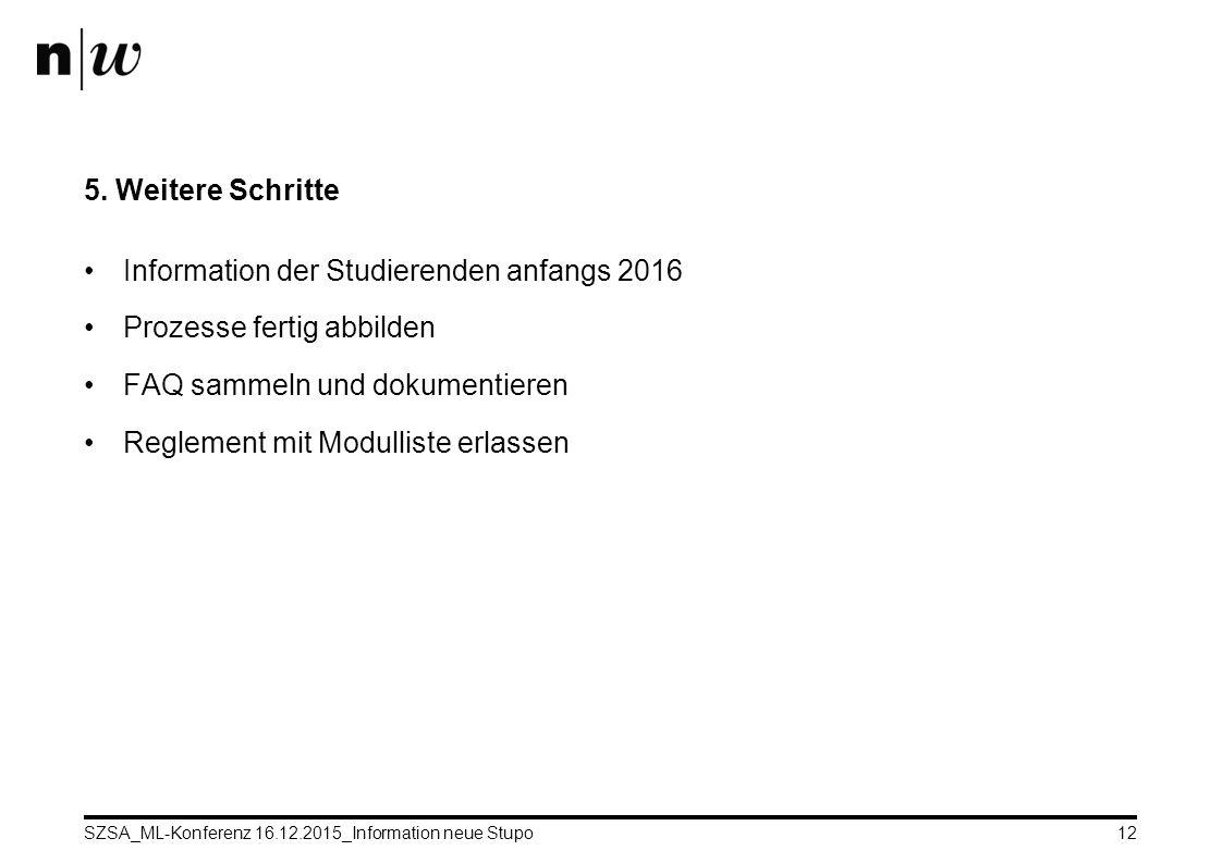 SZSA_ML-Konferenz 16.12.2015_Information neue Stupo12 5.