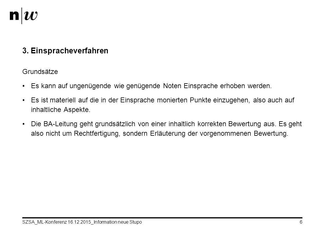 SZSA_ML-Konferenz 16.12.2015_Information neue Stupo6 3.