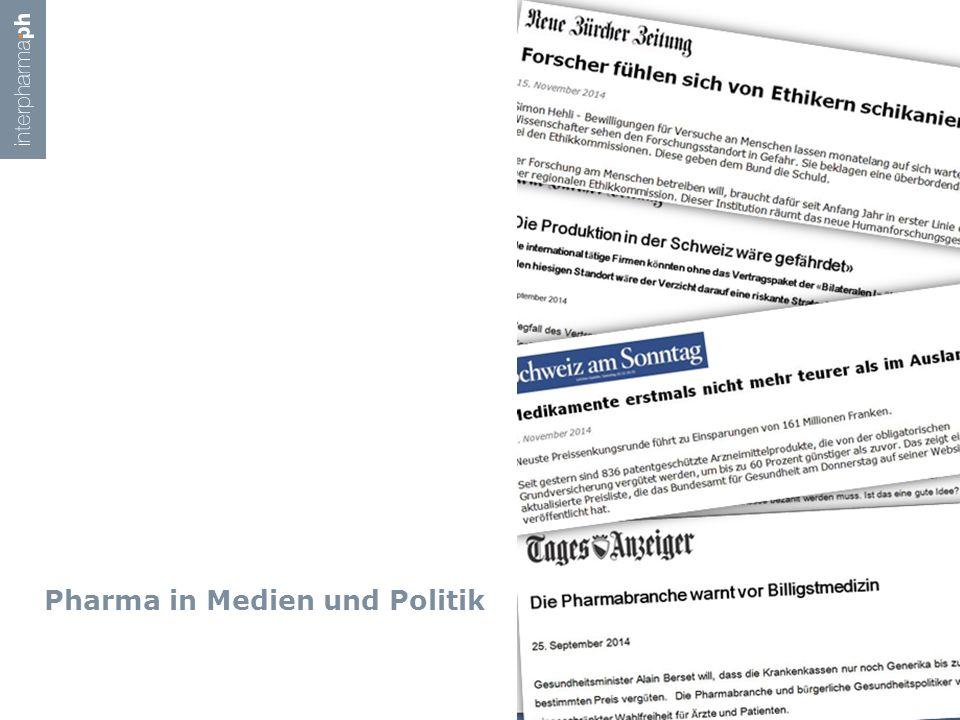 Pharma in Medien und Politik