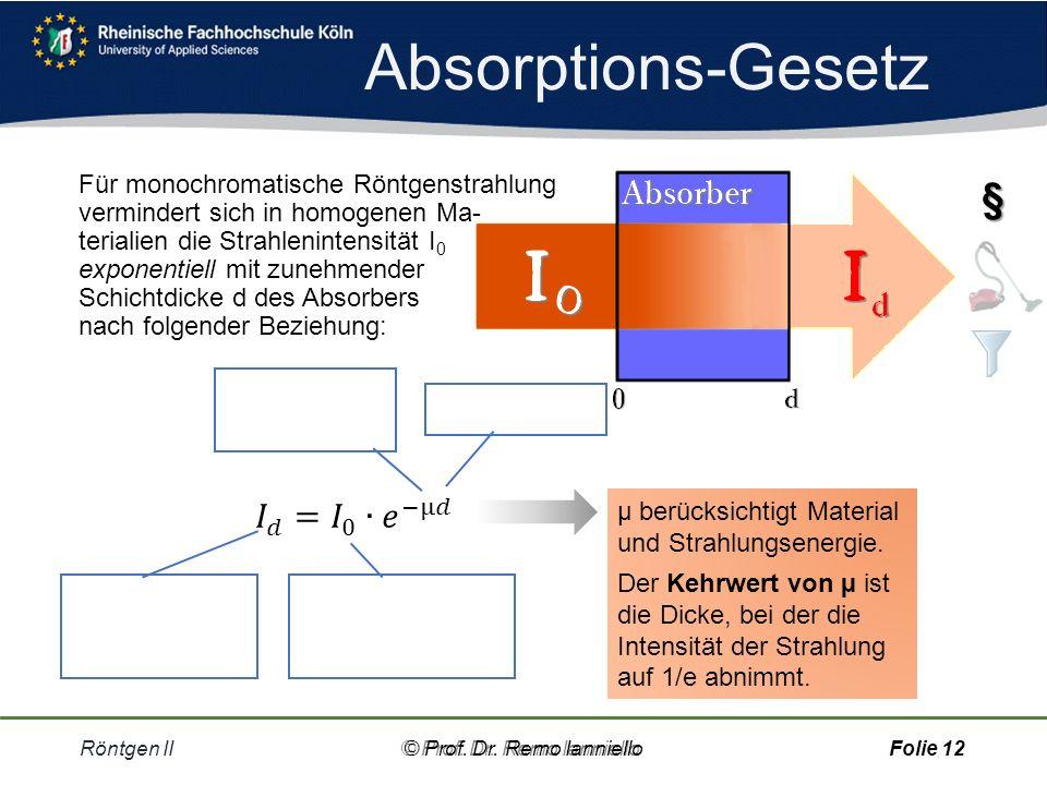 Quiz Halbwertsdicke Röntgen II© Prof.Dr.