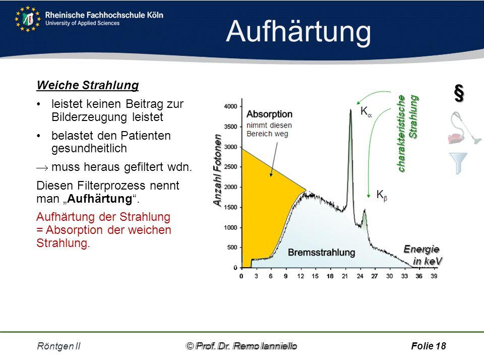 Aufgabe Schwächungskoeffizient Röntgen II© Prof.Dr.