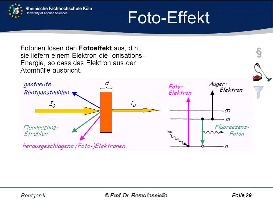 Aufgabe Compton-Effekt Röntgen II© Prof.Dr.