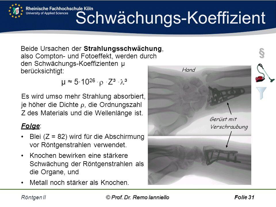 Foto-Effekt Röntgen II© Prof.Dr.