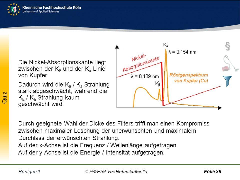 Absorptionskanten Röntgen II© Prof.Dr.