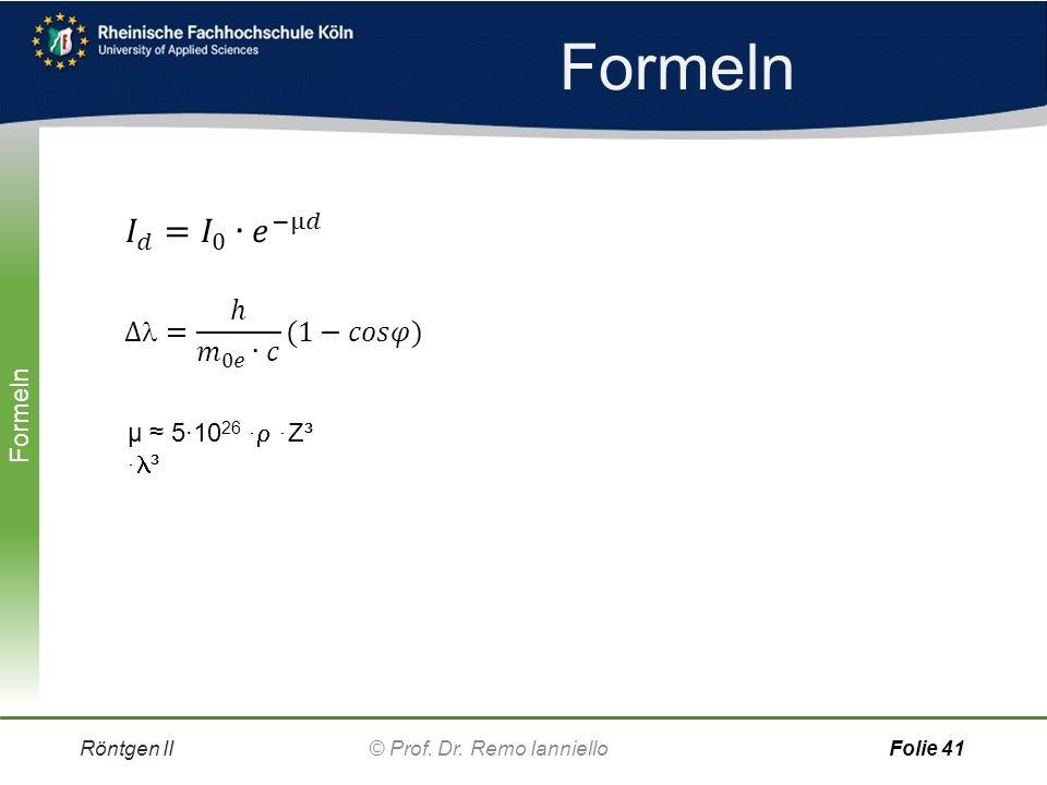 Quiz Absorptionskanten Röntgen II© Prof.Dr.