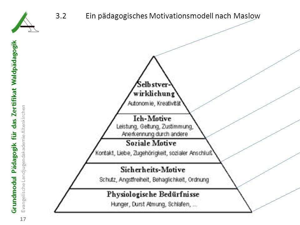 Grundmodul Pädagogik für das Zertifikat Waldpädagogik Evangelische Landjugendakademie Altenkirchen 17 3.2Ein pädagogisches Motivationsmodell nach Masl