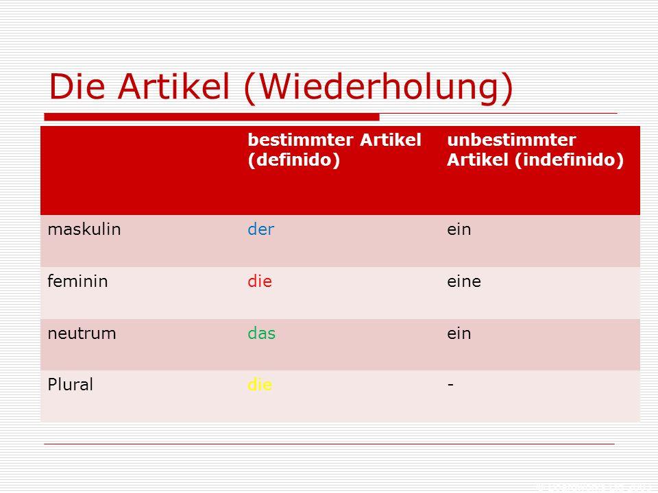 © Boardworks Ltd 2003 Mit Karteikarten arbeiten  auf die eine Seite schreibst du das Wort auf Deutsch, auf die andere auf Spanisch  blau = maskulin (der)  rot = feminin (die)  grün = neutrum (das)  gelb = Plural
