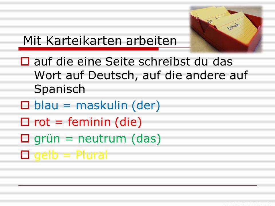 © Boardworks Ltd 2003 Die Karteikartenbox