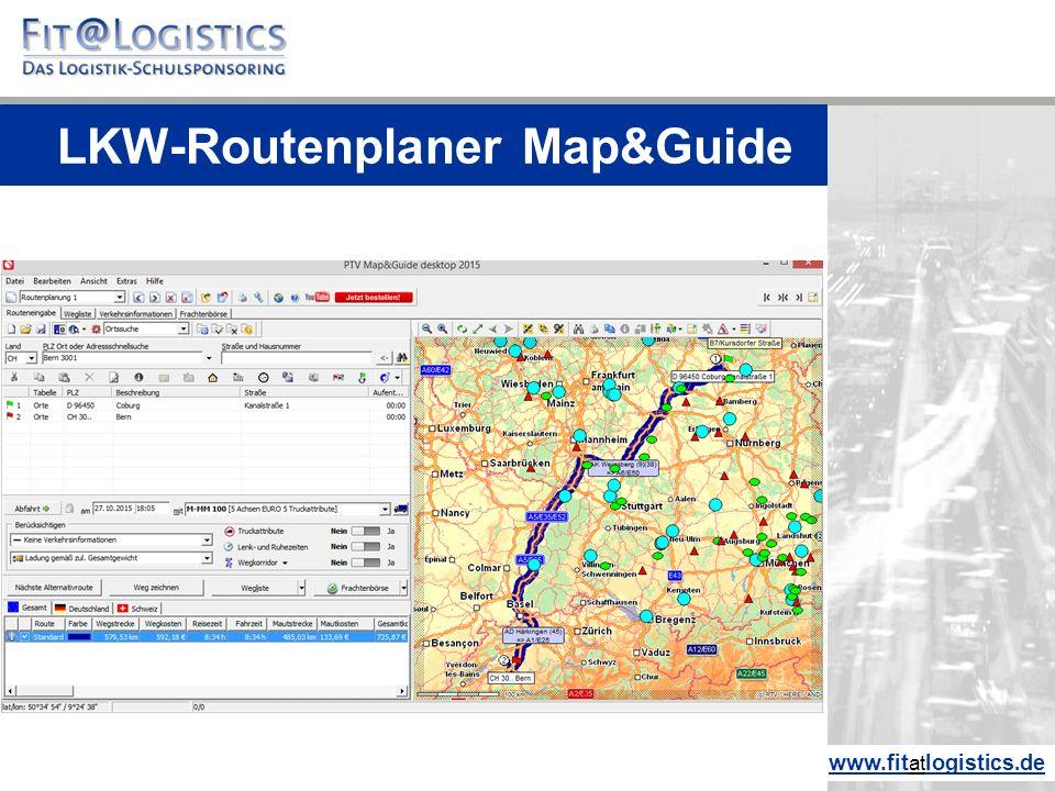 LKW-Routenplaner Map&Guide www.fitatlogistics.de