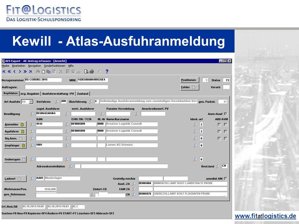 Kewill - Atlas-Ausfuhranmeldung www.fitatlogistics.de