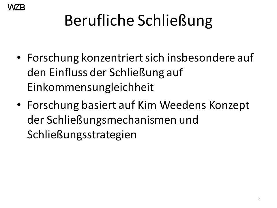 Fallauswahl: Deutschland Beruflich strukturierter Arbeitsmarkt Relativ strikter Kündigungsschutz (induziert Nachfrage nach externer numerischer Flexibilität) Keine freiwillige befristete Beschäftigung 6
