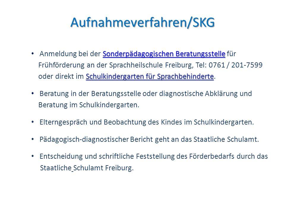 Aufnahmeverfahren/SKG Sonderpädagogischen BeratungsstelleSonderpädagogischen Beratungsstelle Anmeldung bei der Sonderpädagogischen Beratungsstelle für