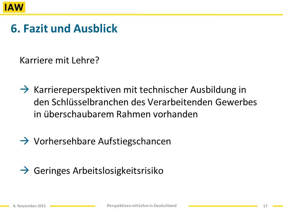 4. November 2015 Perspektiven mit Lehre in Deutschland 6.